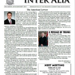 Inter Alia - December 2014 / January 2015