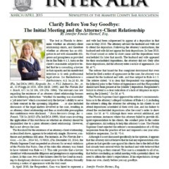 Inter Alia - March/April 2015