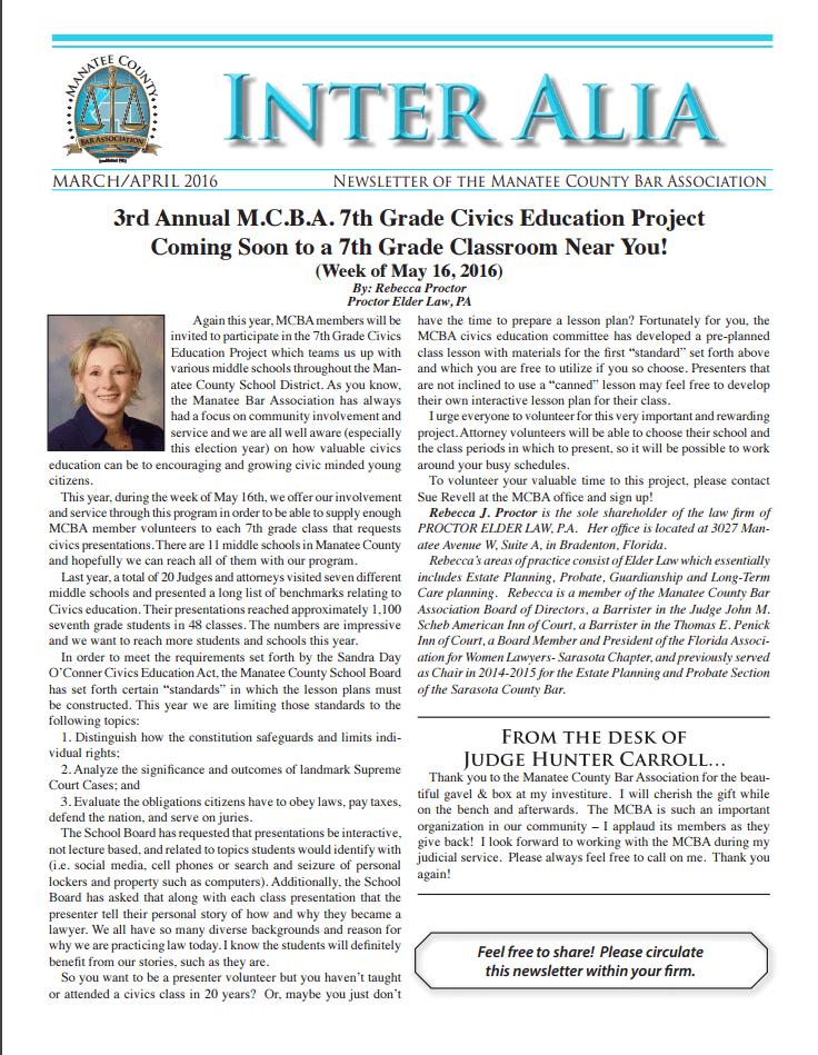 Inter Alia - Mar-April 2016