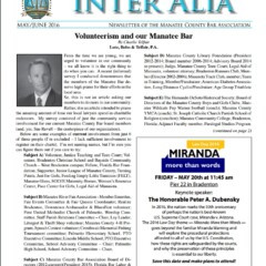 Inter Alia – May/June 2016