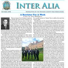 Inter Alia October 2018