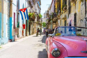 A car on the streets of Havana.